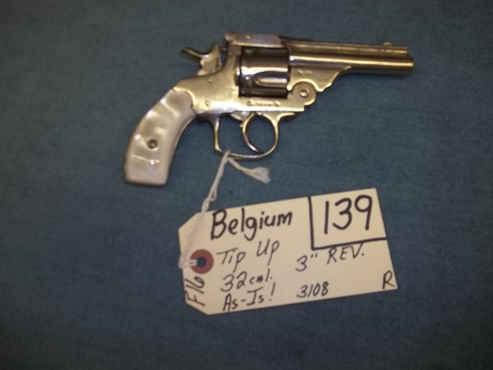 Belgium Tip Up, 32 Cal. AS IS 3108 Reg. Req.
