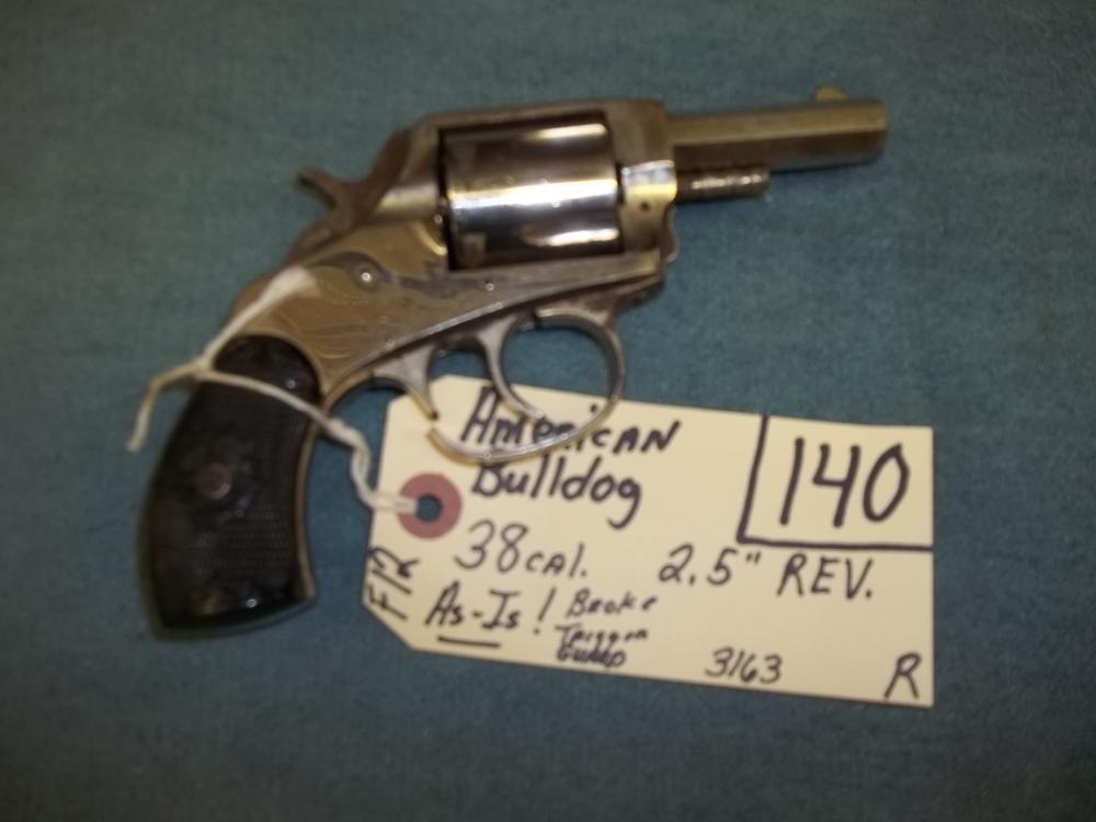 American Bulldog, 38 Cal. AS IS 3163 Reg. Req.
