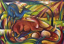 Hommage á Franz Marc - Paintings from 7 hungarian Artists