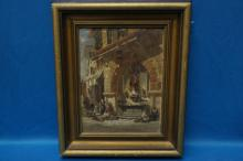Henry Valter 19th C. Oil On Panel Cityscape