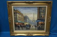 (attrib.) J. Gaston Parisian Street Scene A / C