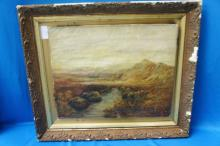 Early Art On Canvas- Signed H. Bolton
