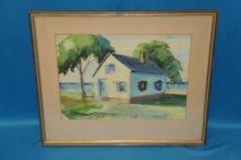 Framed Watercolor Signed J. Stanley