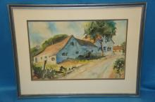 Watercolor Signed J. Stanley