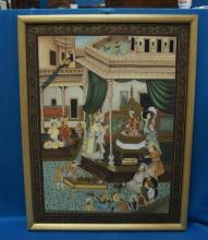 Vintage Indian Painting On Silk