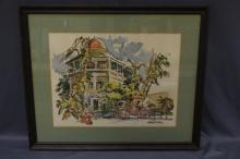 Water Color Signed Cecile R Johnson