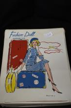 Leather Fashion Wardrobe Case With Doll & Clothes