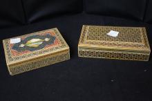 Wooden Oriental Trinket Boxes