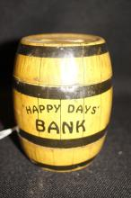 Vintage 1930-40s J. Chein Happy Day Bank