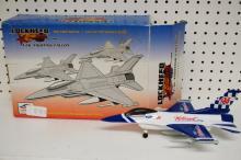 Lockeheed F- 16 Fighter Metal Airplane Bank