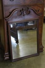 Burl Walnut Mirror