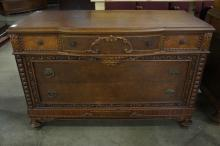 Carved Dresser With Five Drawers