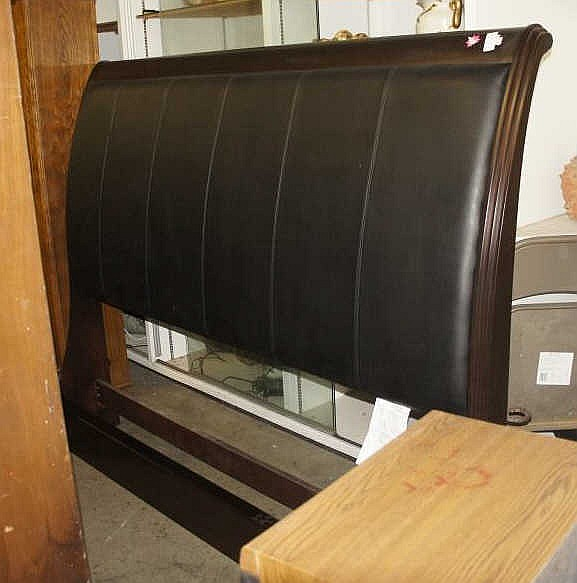 Sold Price: King Size Sleigh Bed With Rails - March 6 ...