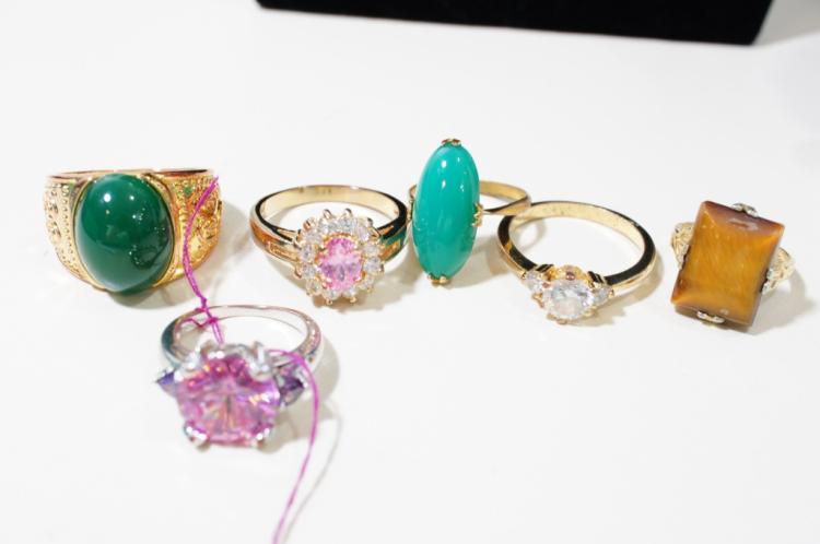 6 costume rings