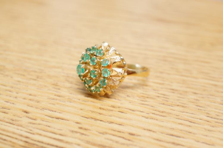 Emerald Estate Ring 14k Size 8