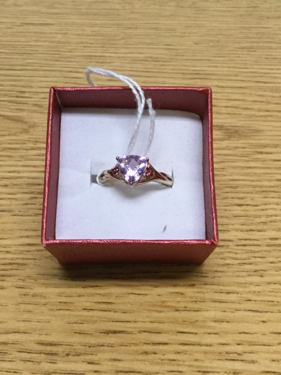 Sterling ring with amethyst size 8