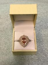 Sterling silver Morganite ring size 9