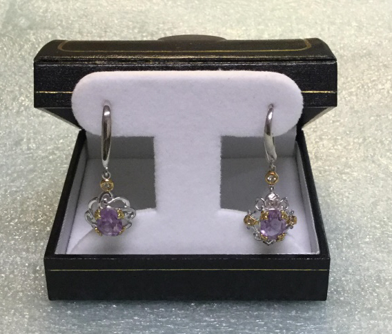 Sterling earrings with amethyst stone