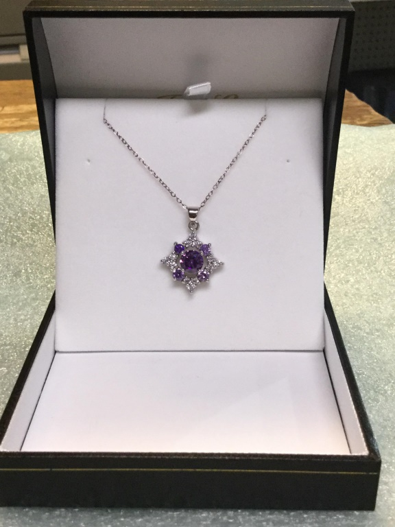 Amethyst snowflake necklace