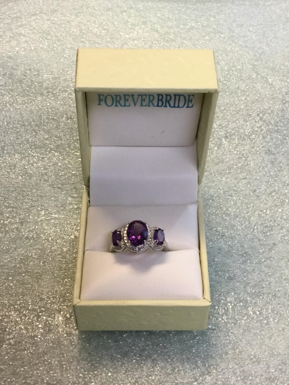 Sterling amethyst ring size 7 1/2