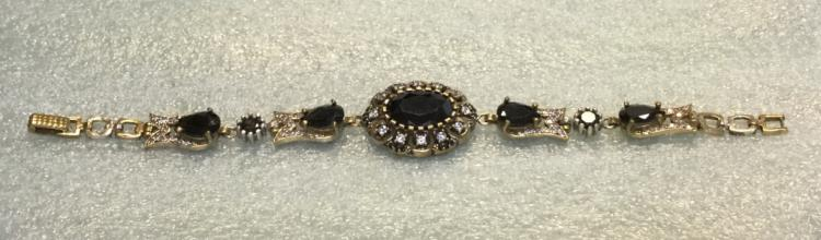 Sterling black onyx bracelet