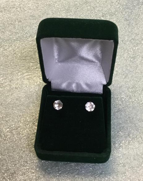 Sterling white sapphire earrings
