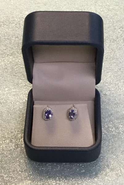 Sterling tanzanite earrings