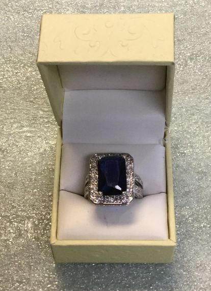 Sterling sapphire ring size
