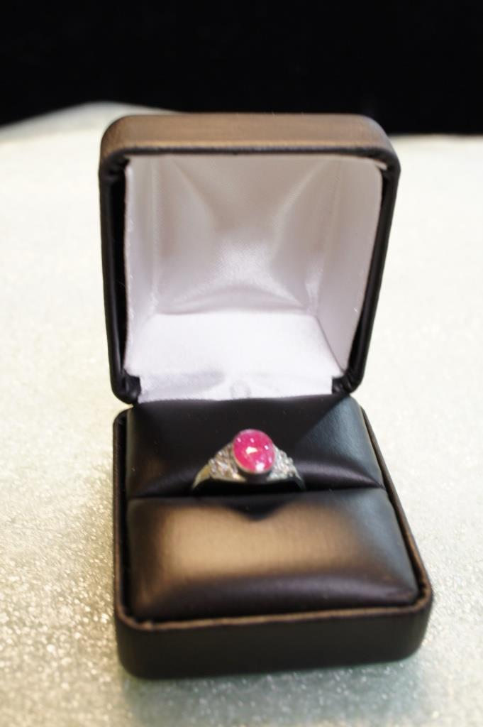 Ring With Pink Stone Size 7.5