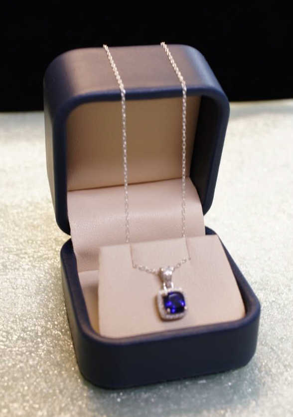 Sterling Tanzanite Necklace