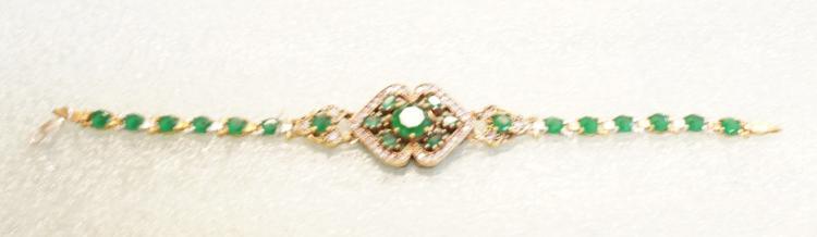 Sterlimg Emerald Bracelet