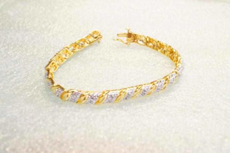 Sterling Bracelet With Diamonds