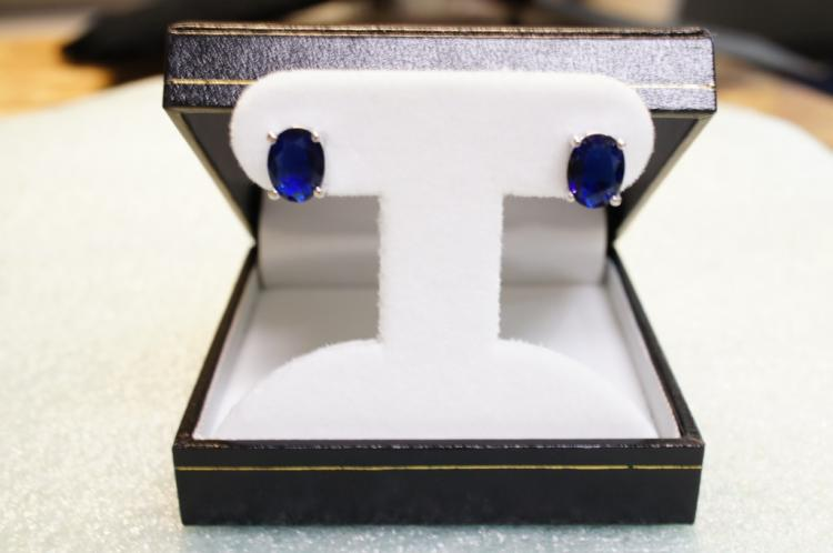 Sterling Sapphire Earrings
