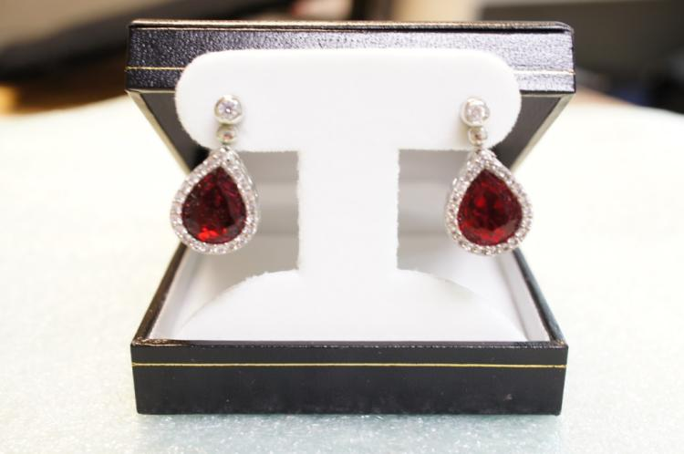 Sterling Ruby Earrings