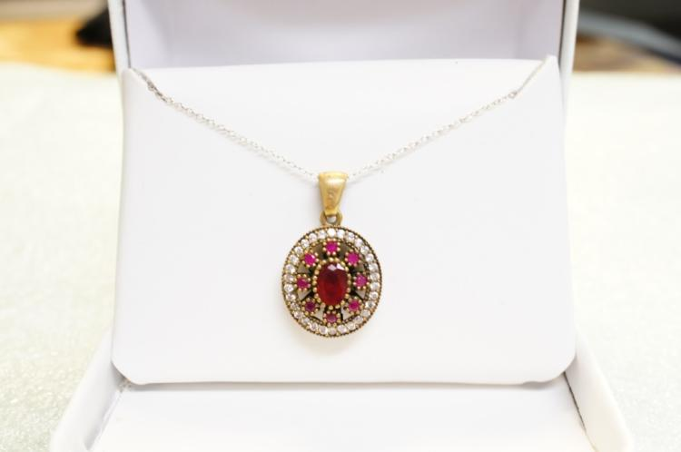 Sterling Ruby Necklace