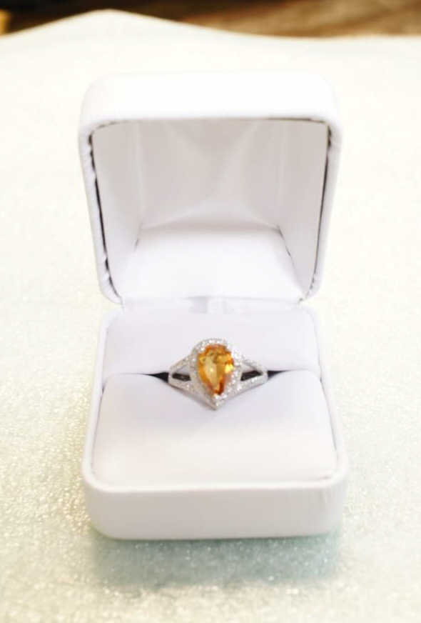 Sterling Azotic Topaz Ring Size 7