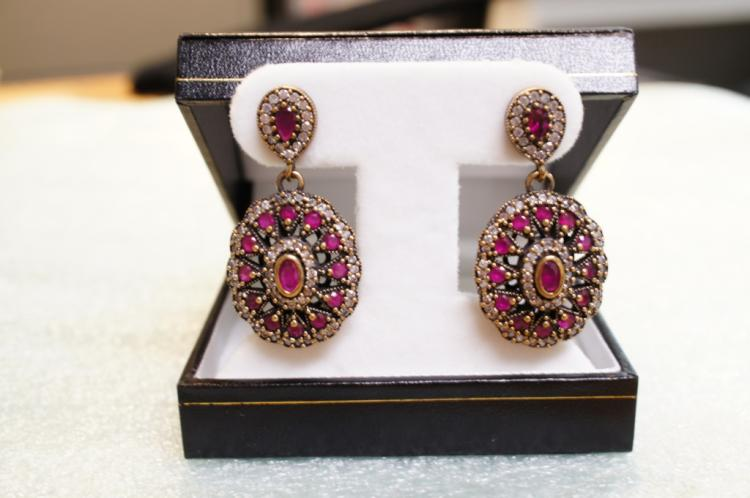 Sterling Ruby Earrings