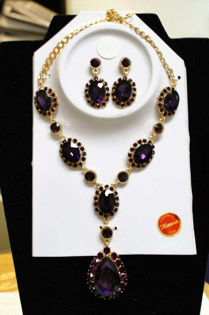 Murano Necklace And Earring Set