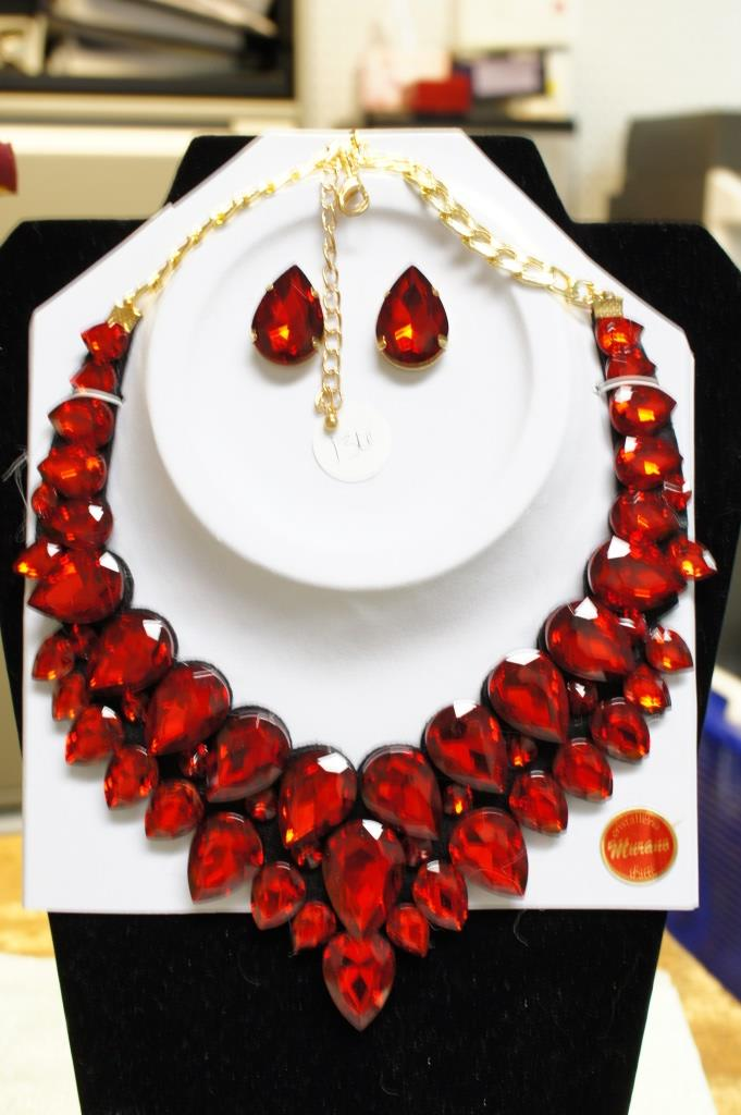 Murano Necklace And Earrings Set