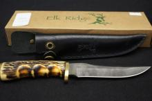 Elk Ridge Stainless Steel Custom Bone Handle Knife
