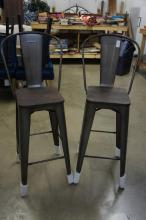 Metal Barstools With Open Backs