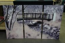 3pc Wall Art On Canvas