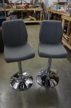 Gray And Chrome Color Barstool