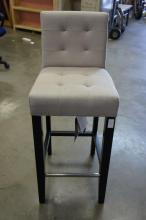 Gray Fabric Barstool