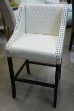 Barstool With Cream Color Leather