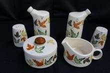 Hand Painted Relco Condiment Set