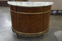 Half Moon Marble Top Commode