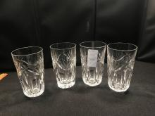 Set Of 4 Waterford Water Glasses- Signed