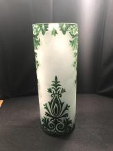 Green And White Decorative Vase
