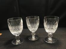 Set Of 3 Waterford Stemware Glasses